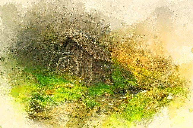 道端の古い家